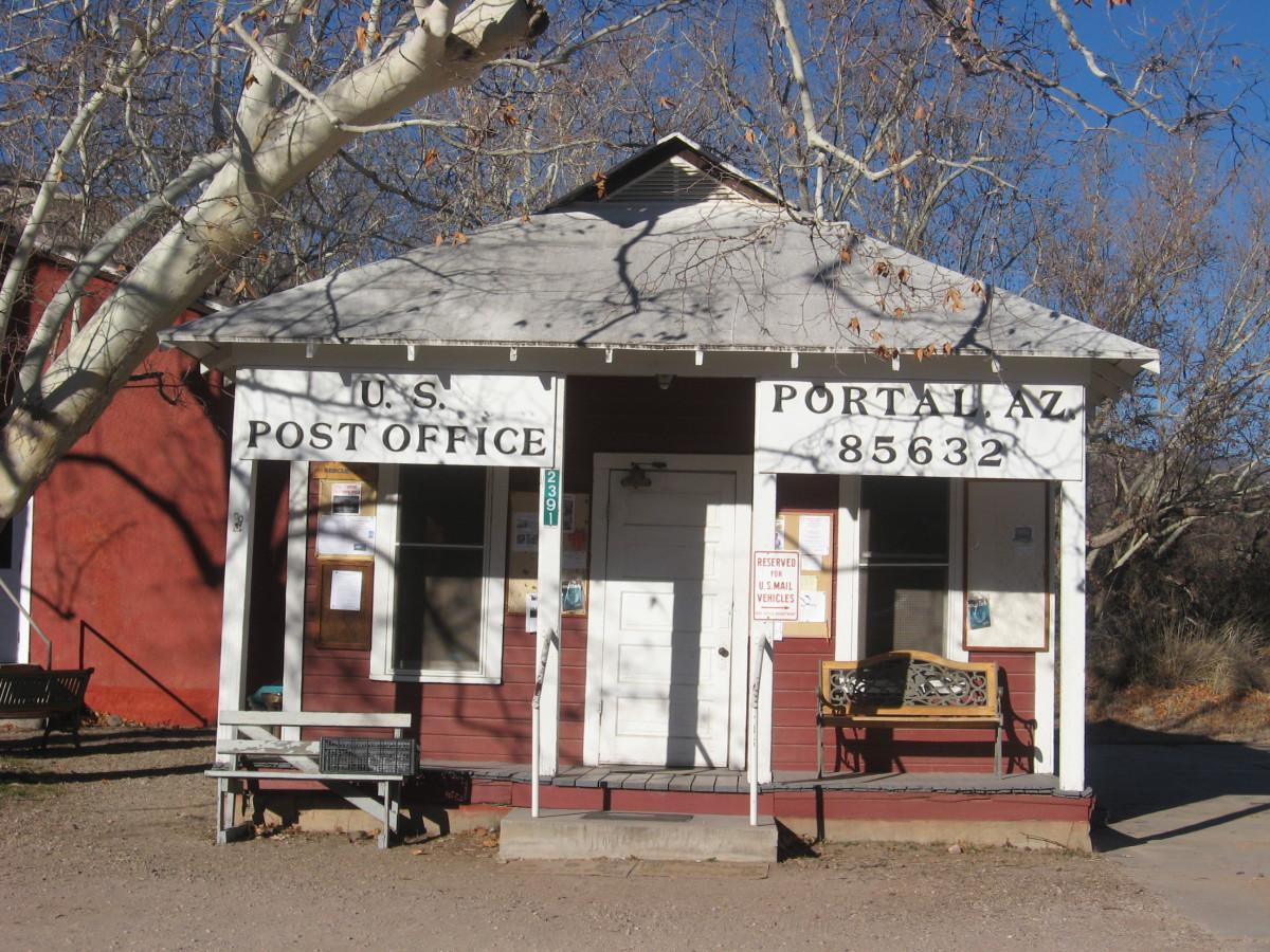 Post Office in Portal, Arizona