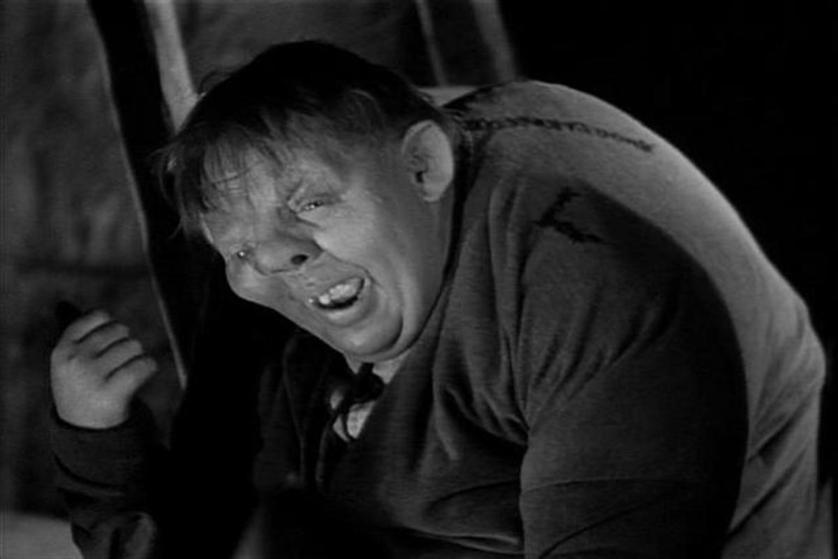 Charles Laughton as Quasimodo in 'The Hunchback of Notre Dame'