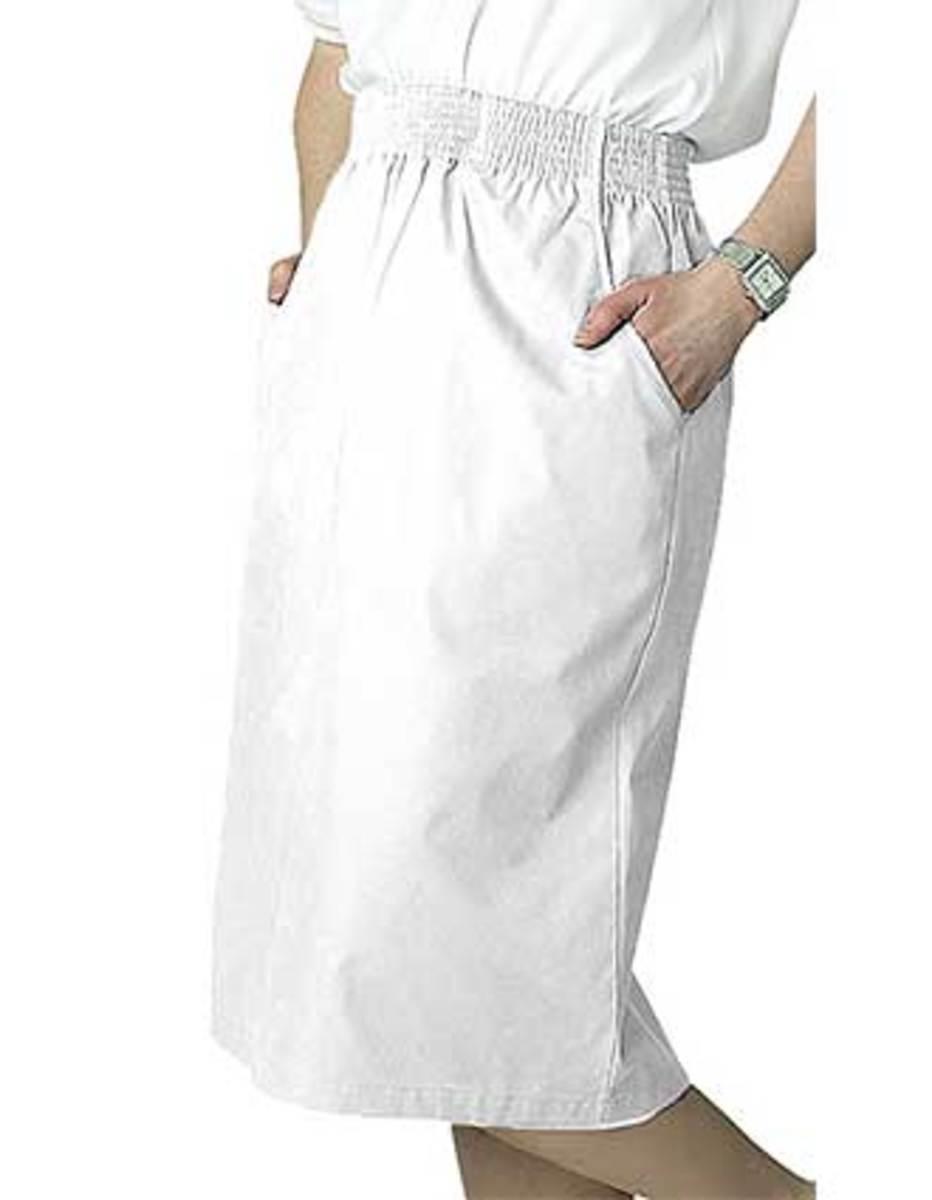 A-Line Knee Length Nurse Skirt from Adar