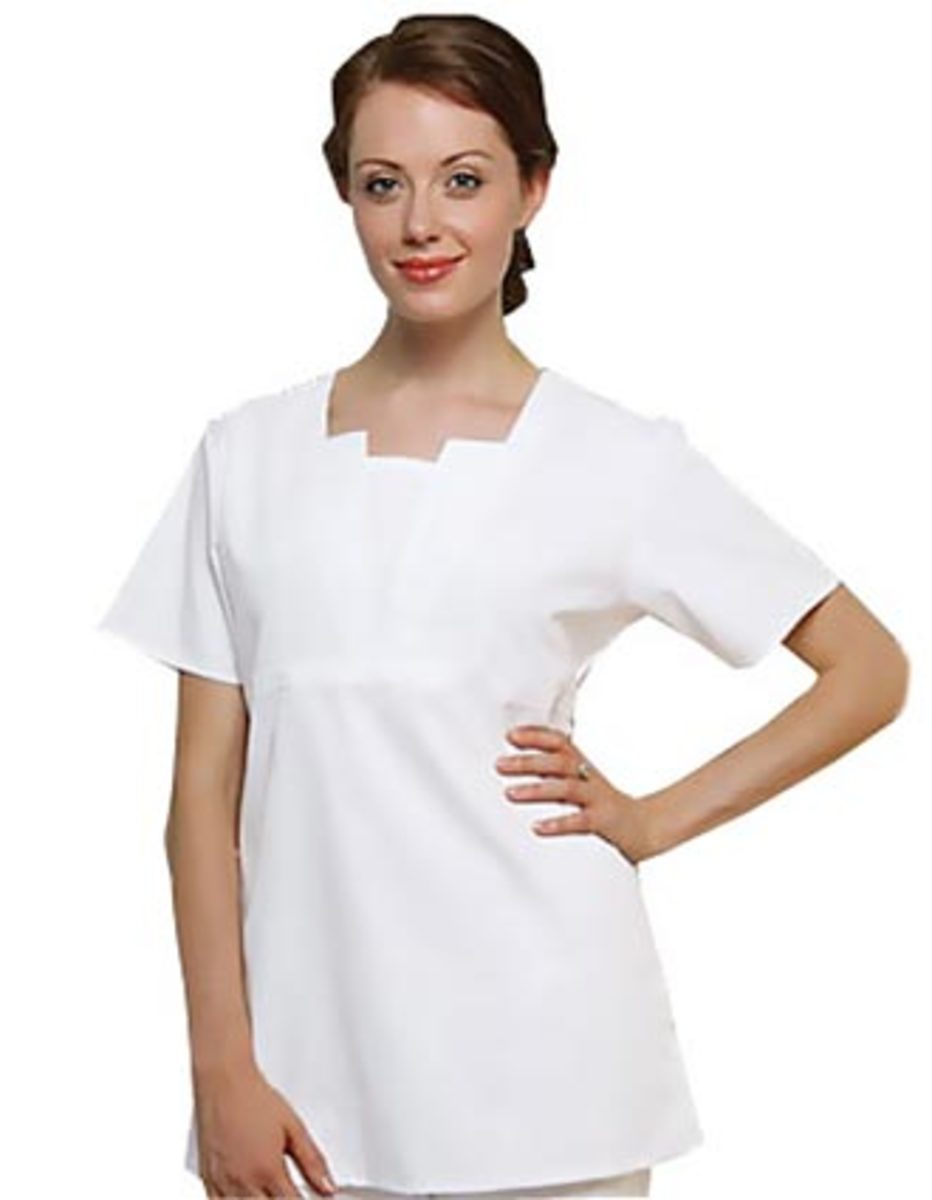 Adar Split Neck Tunic in empire waist style