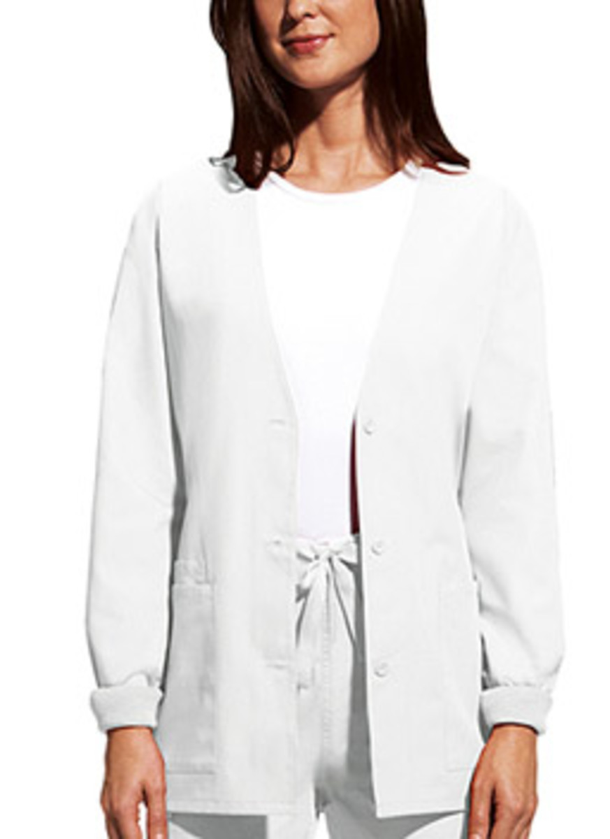 3-pocket cardigan medical scrub jacket