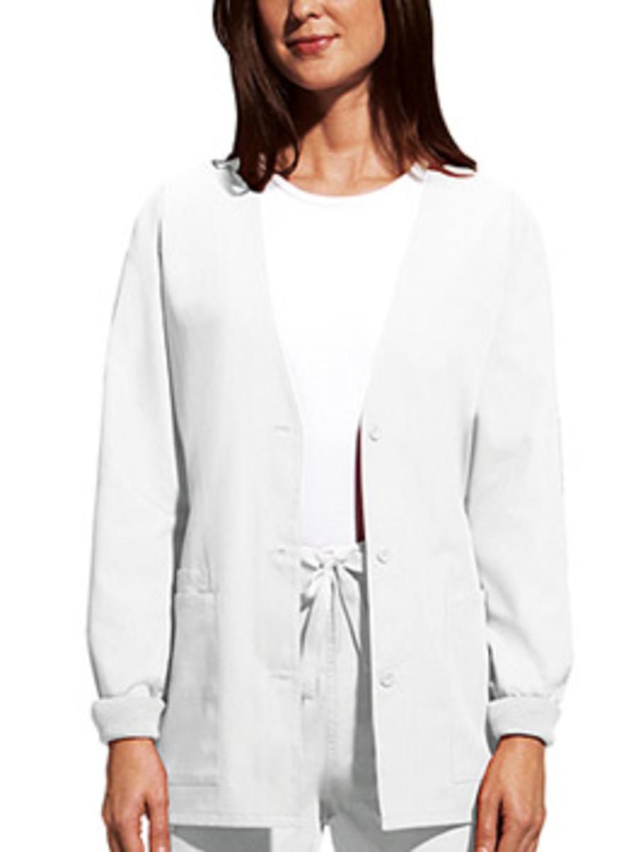 3-pocket cardigan medical scrub jacket
