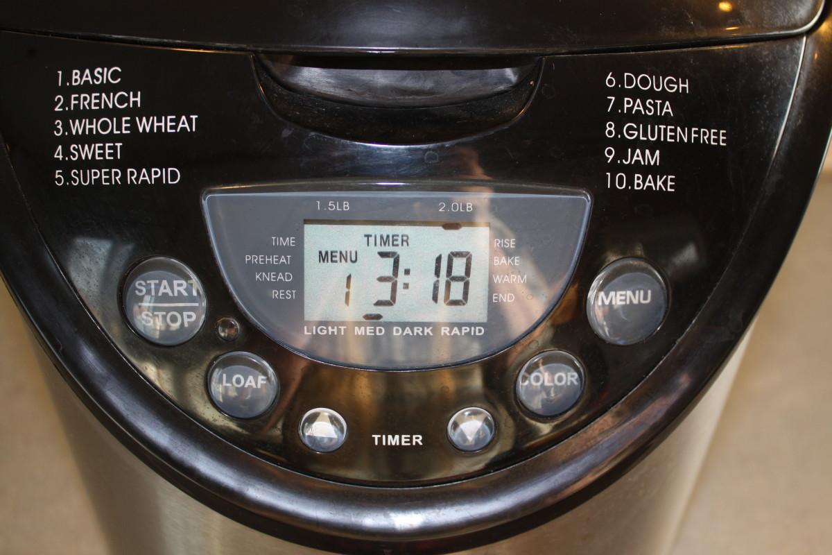 Bread Machine Settings