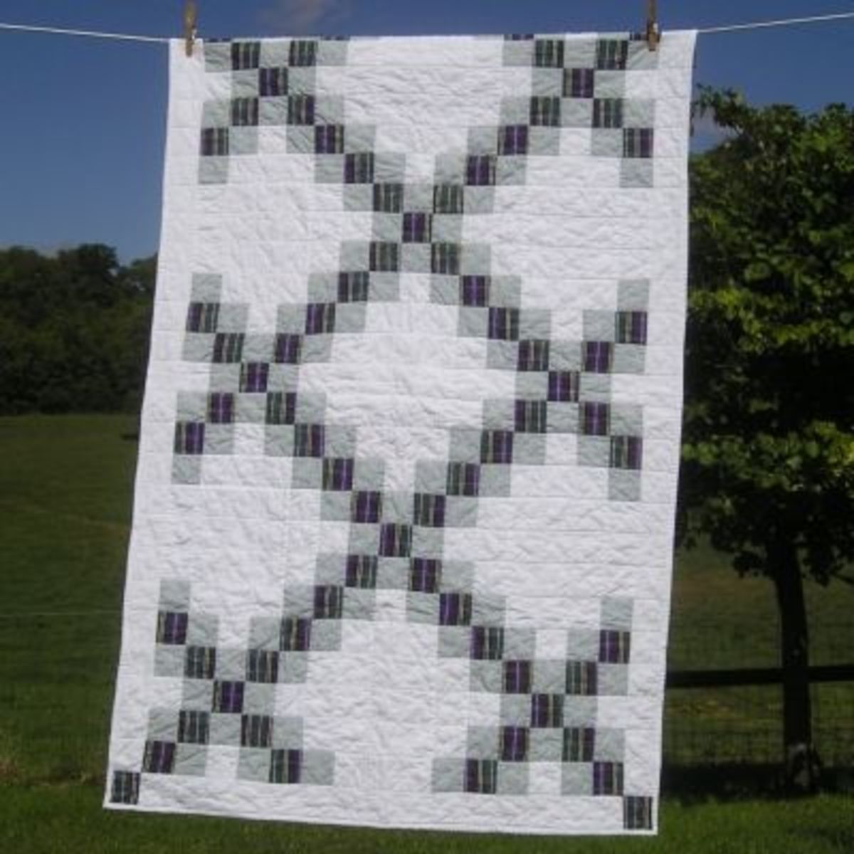 Double Irish Chain Memory Quilt