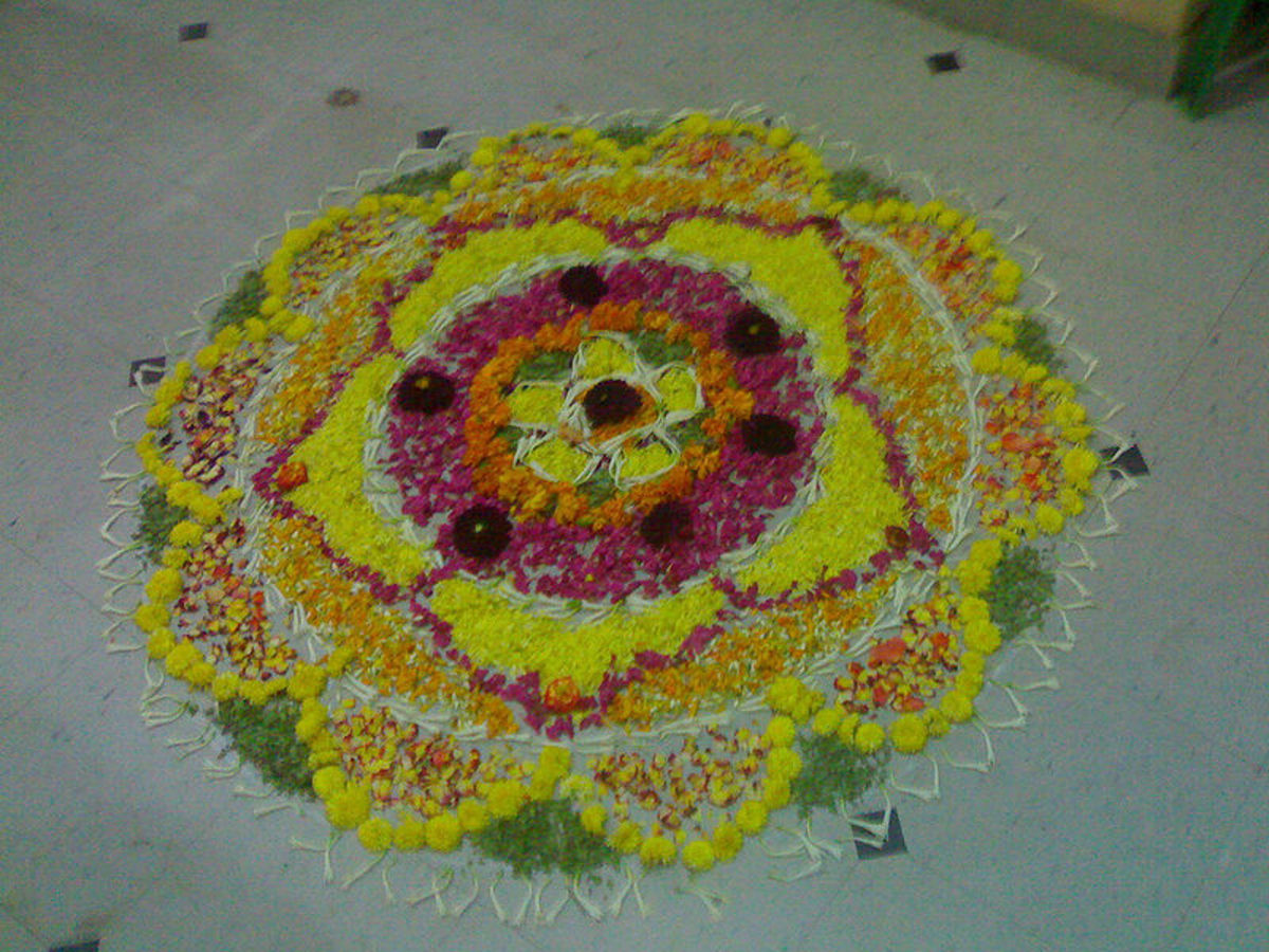 Filled with flower petals, a speciality for the Onam festival.