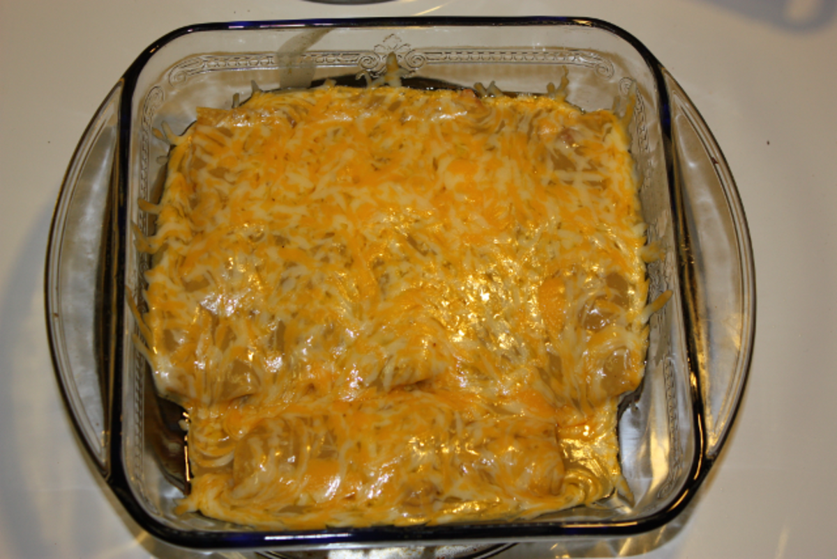 Green Chili Chicken Enchiladas is one of my familys favorites!