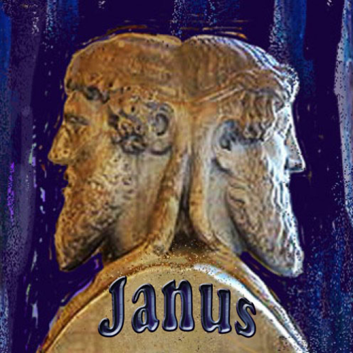 Bust of the god Janus, Vatican museum