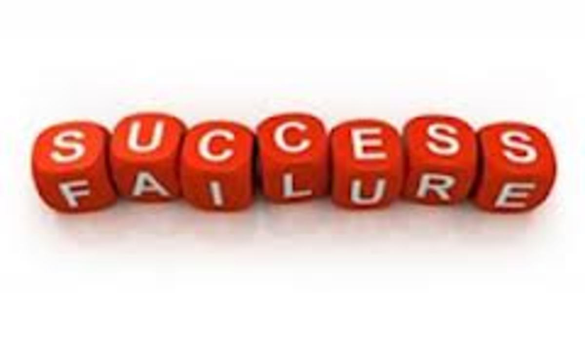 Many people don't realize that failure is an intergral part of success.Many successful people had numerous failures before they became successful. In fact, such failures spurred them to evn greater heights of success.