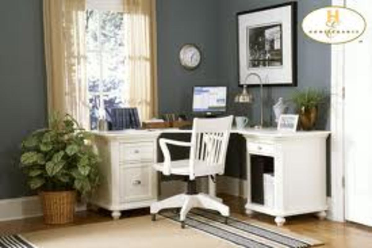 Convert a small corner to a cozy office space at home.