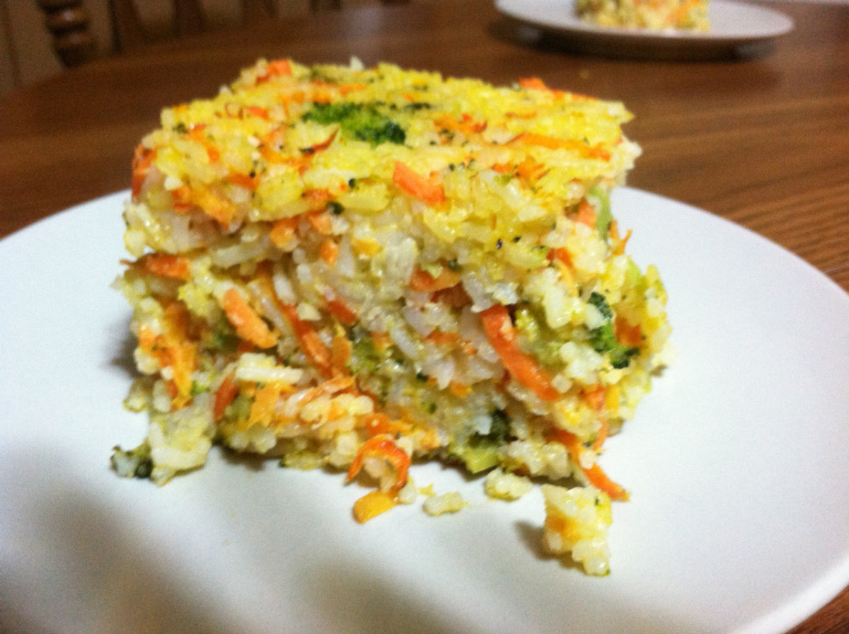Carrot, Broccoli, & Mexican Shredded Cheese Blend with Jasmine White Rice Casserole