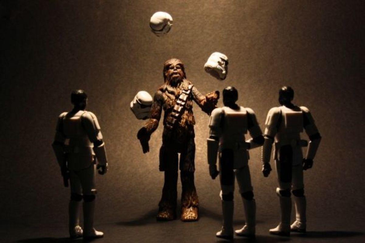 Let the Wookiee juggle