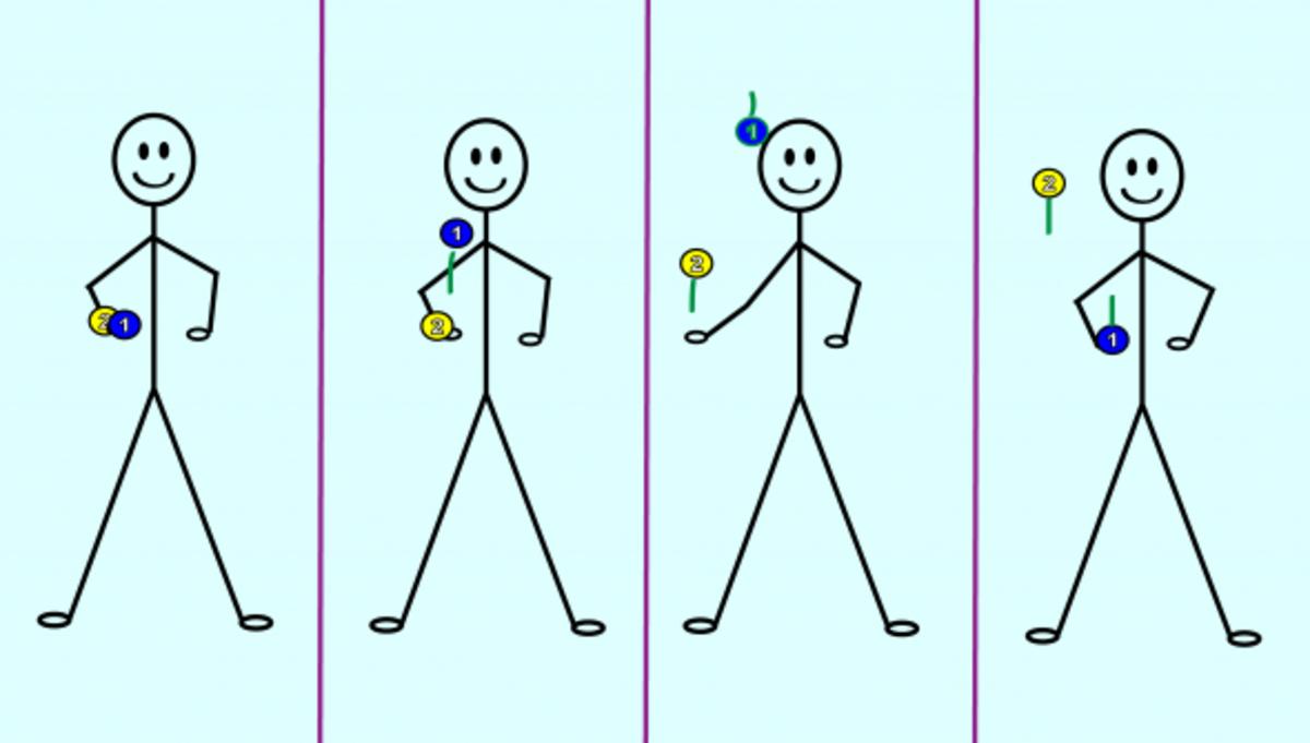 Juggling 2 balls in 1 hand