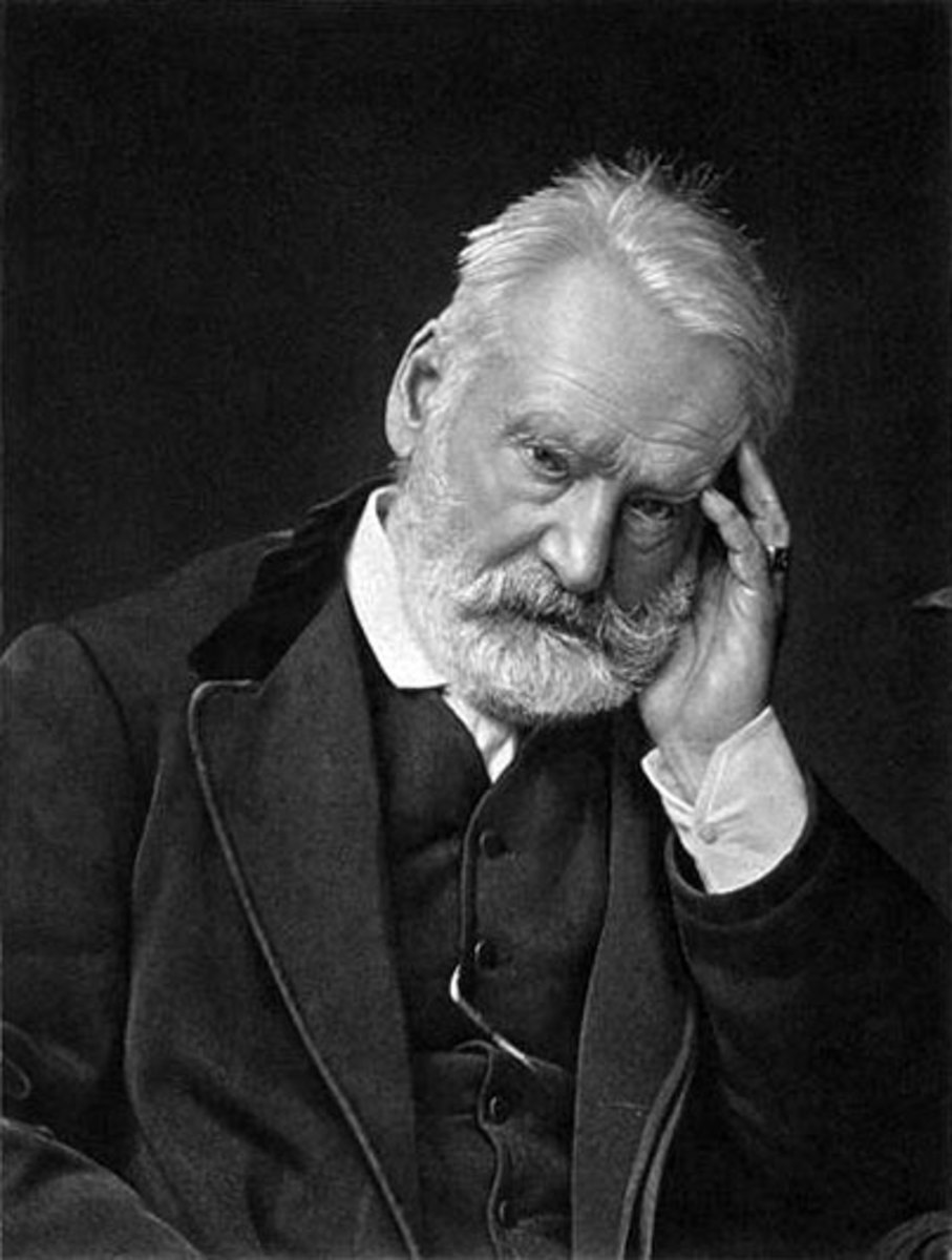 """The novelist Victor Hugo who wrote """"The Man """"Who Laughs."""