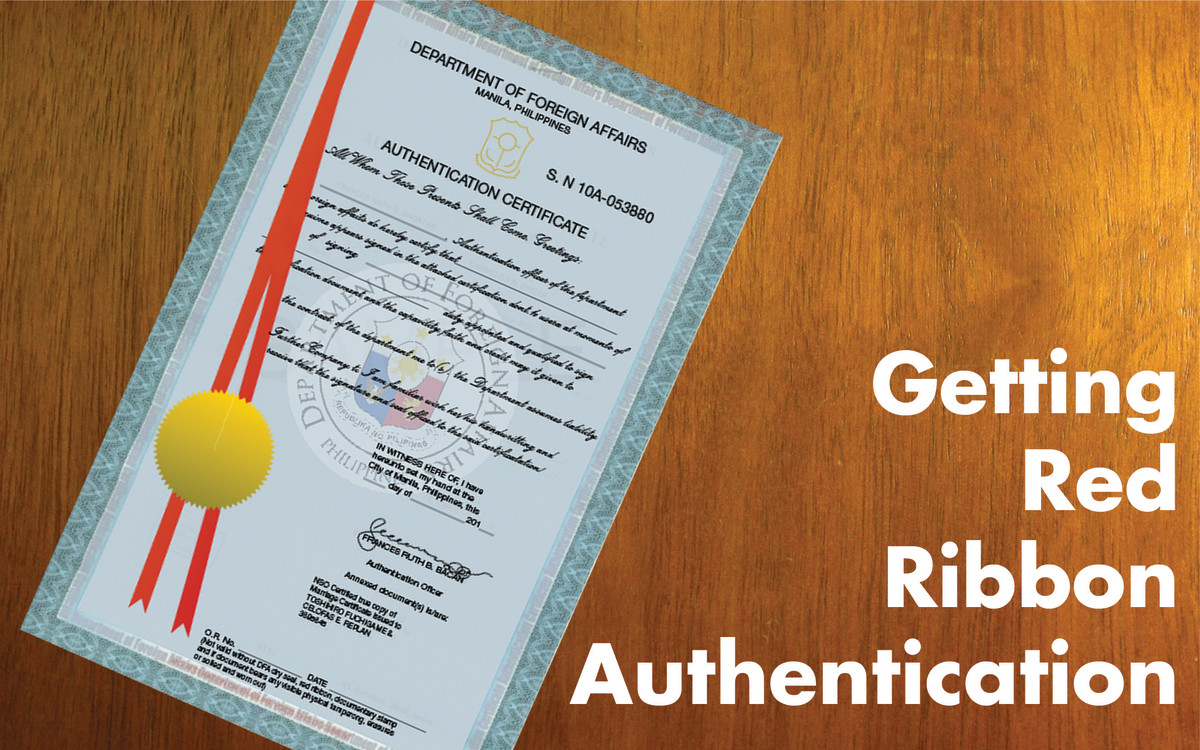DFA Red Ribbon Authentication Requirements, Documents, and Procedures