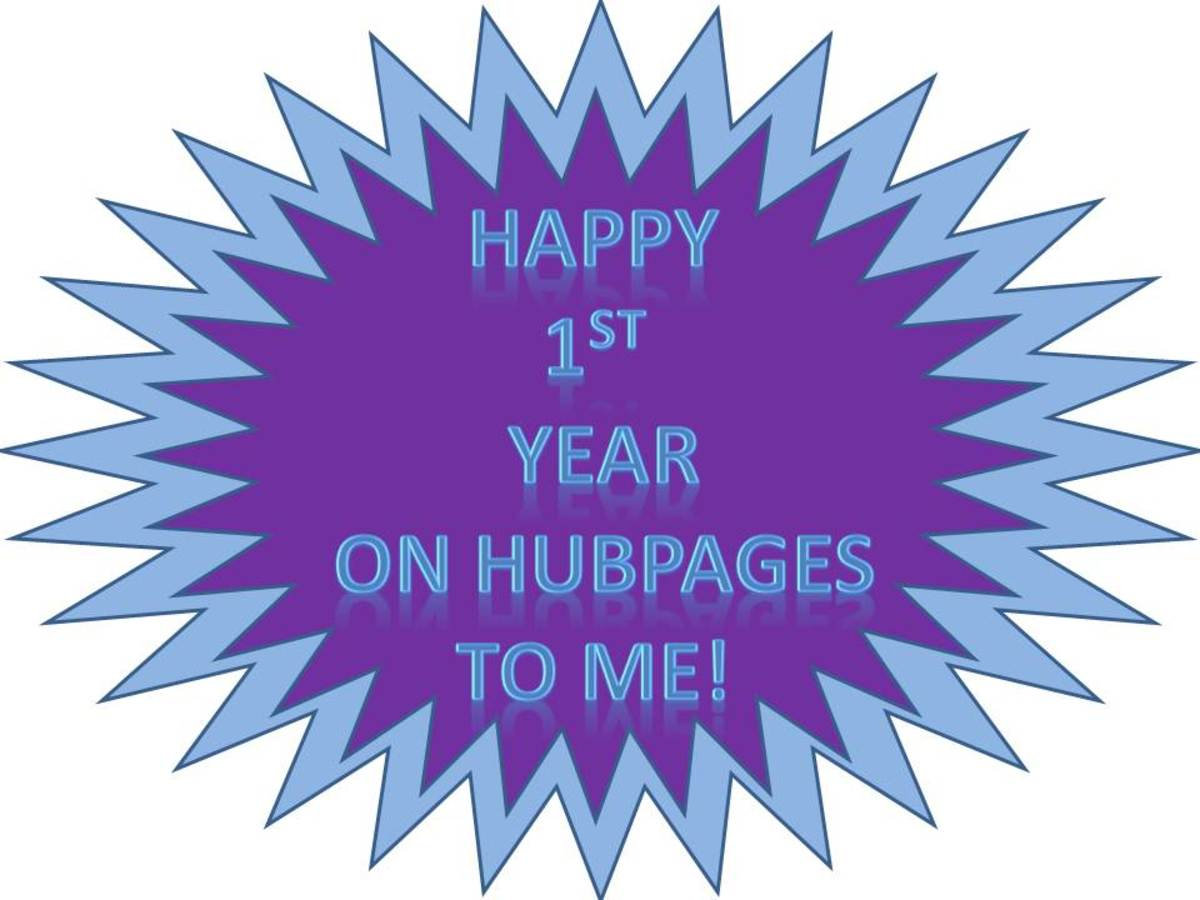 My First Year Writing for HubPages: What I've Learned and Goals for the Next Year