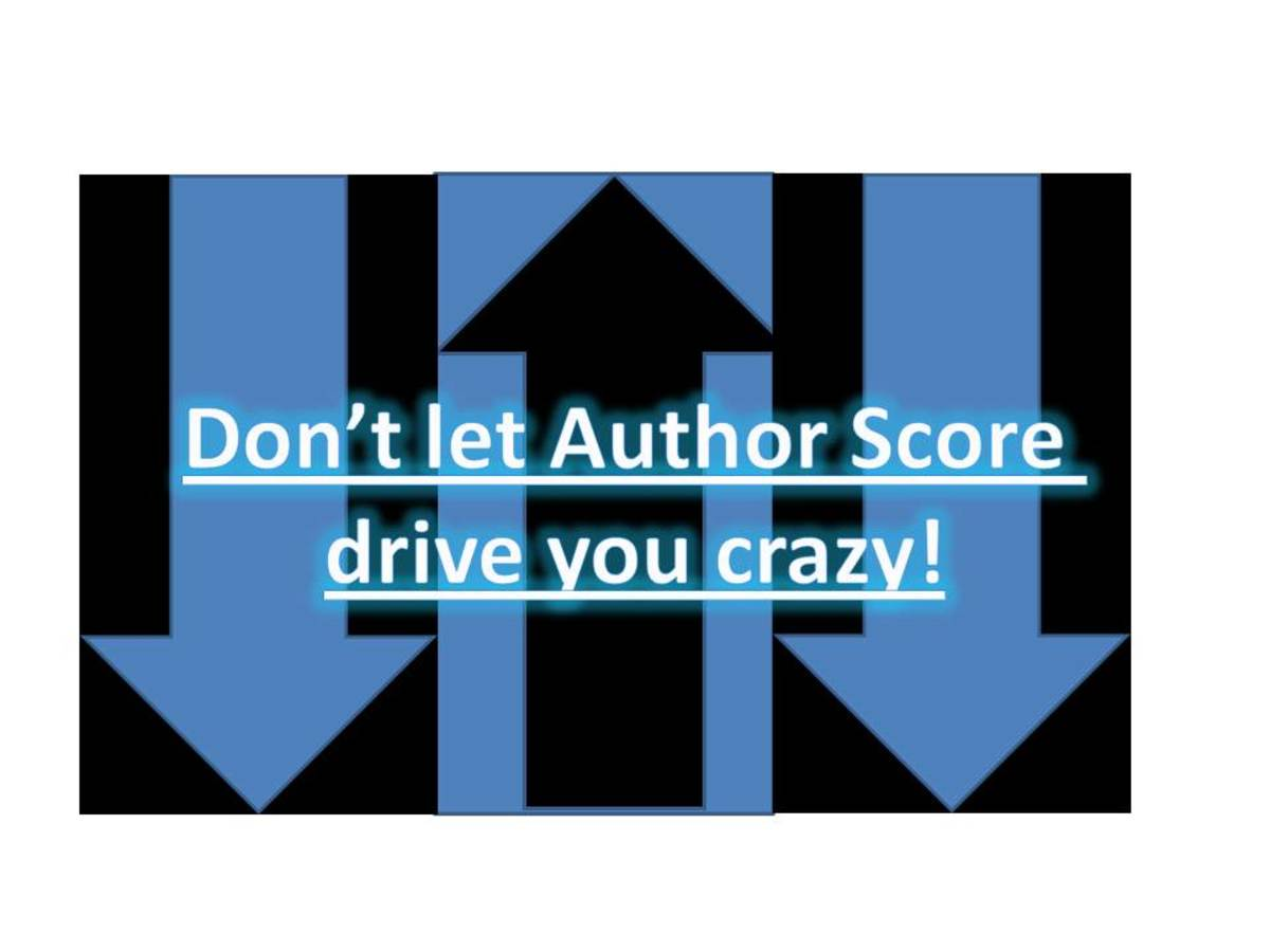 Scores will go up and scores will go down. Don't let it drive you crazy!