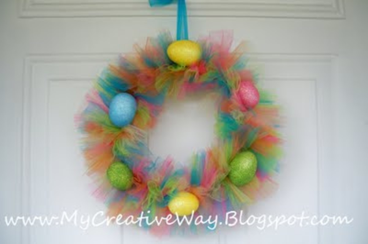 tutu Easter Wreath