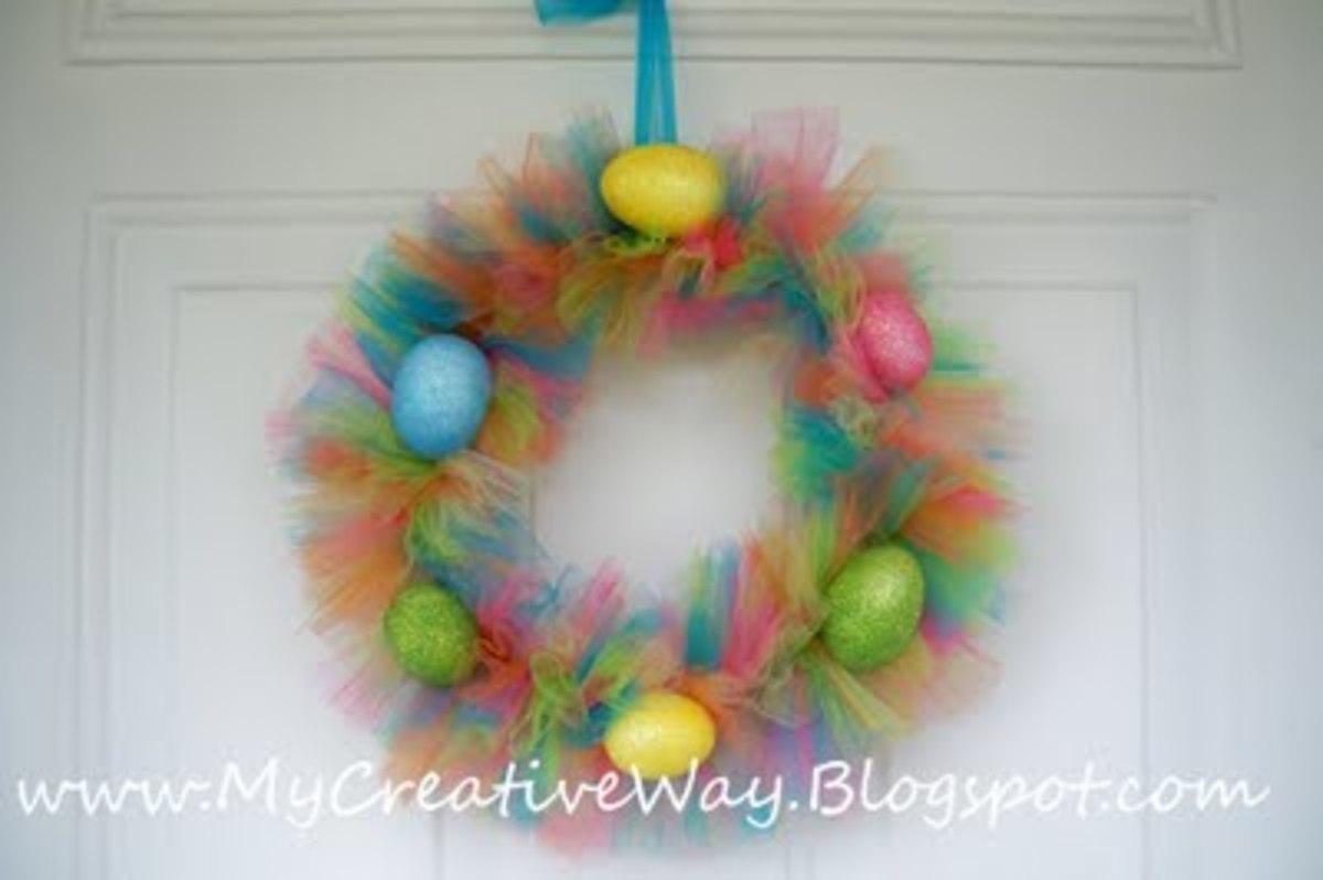 tutu Easter Wreath
