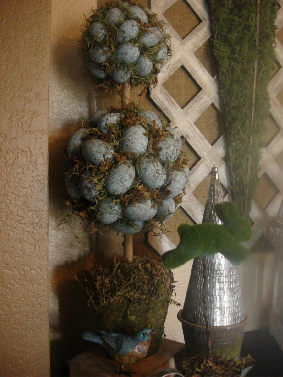 Robin's egg topiary