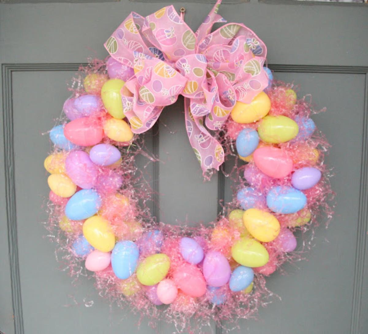 Plastic Egg Wreath