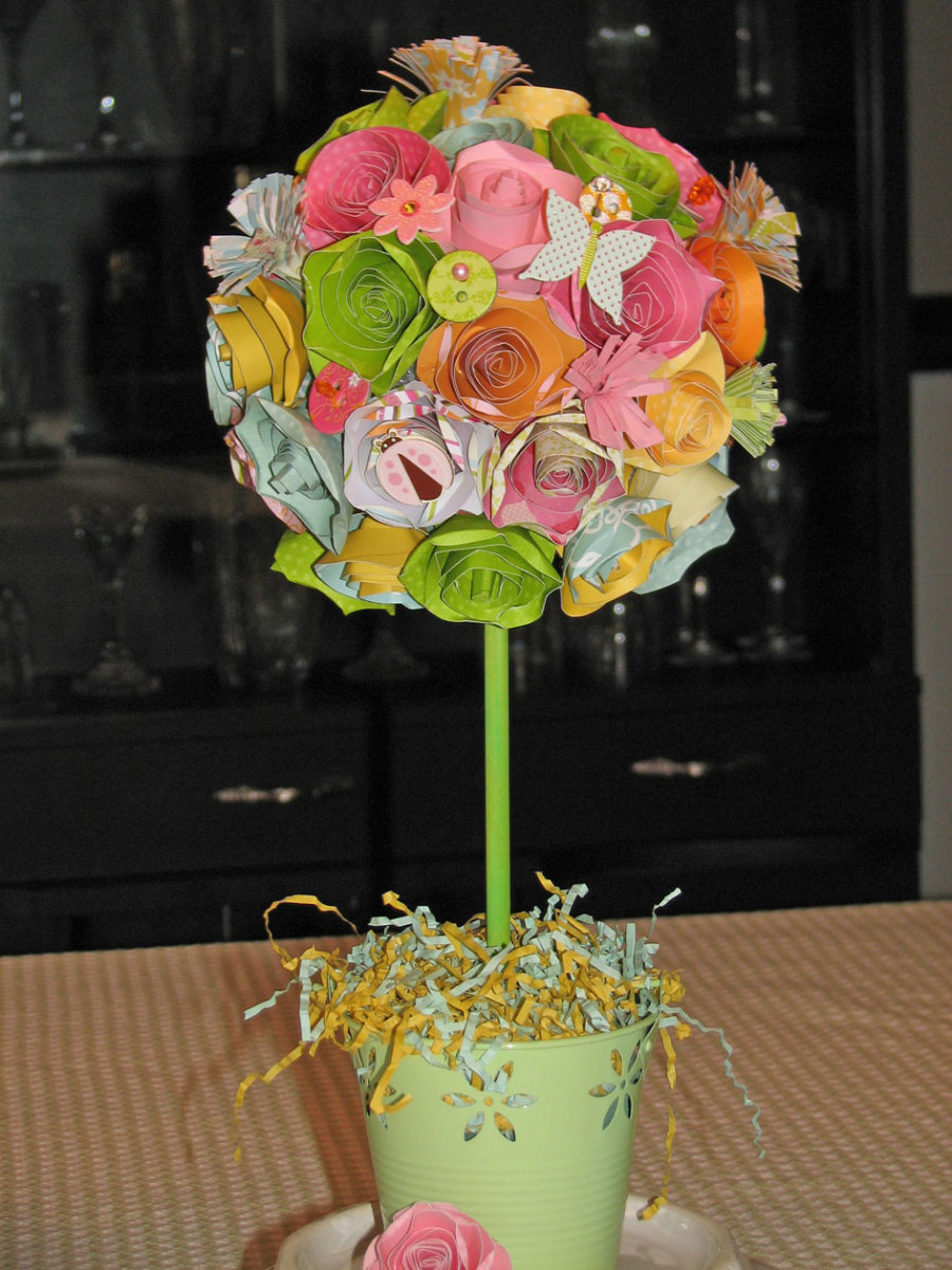 spring flower topiary