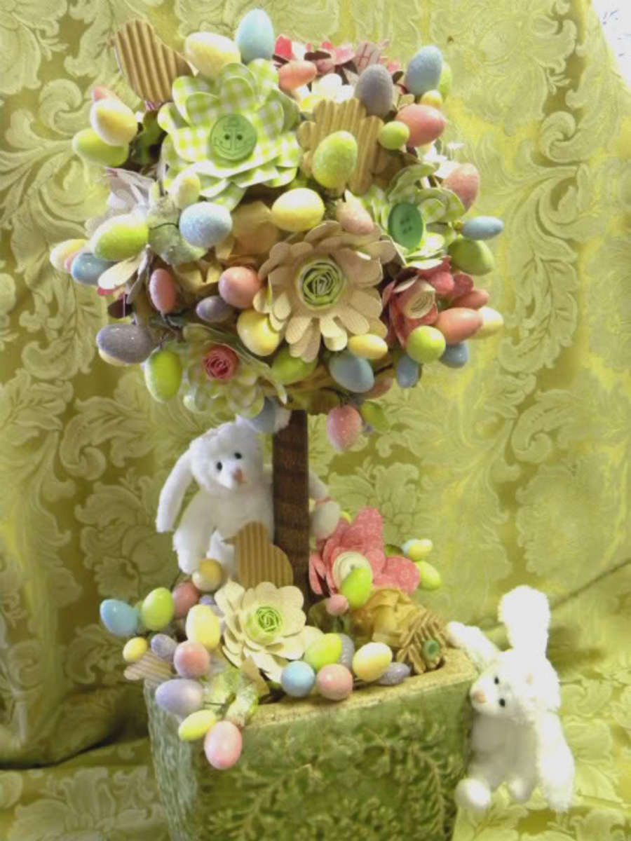 Jillibean Soup Easter topiary