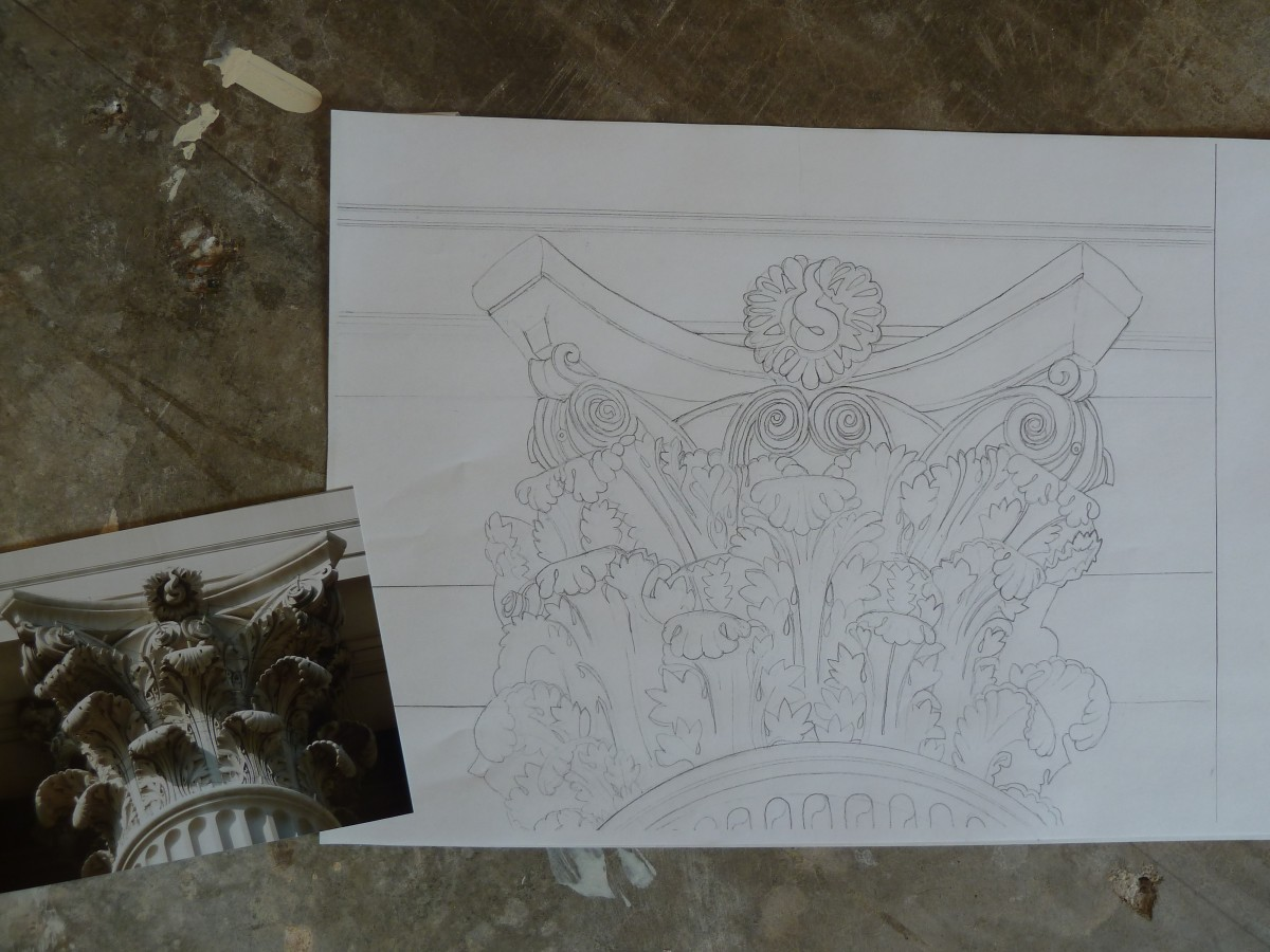 This is the finalized drawing, ready for painting!