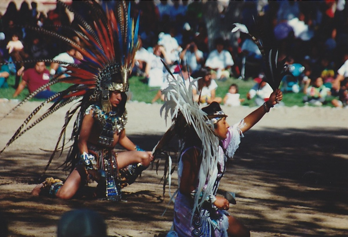 Teenage PowWow Dancers.