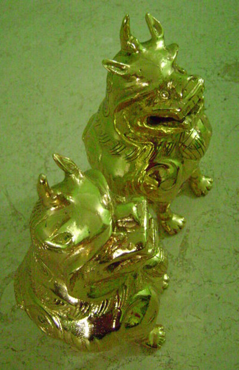 Gold-plated pixiu or pi yao