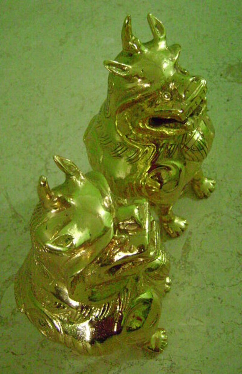 Gold-plated pixiu or pi yao