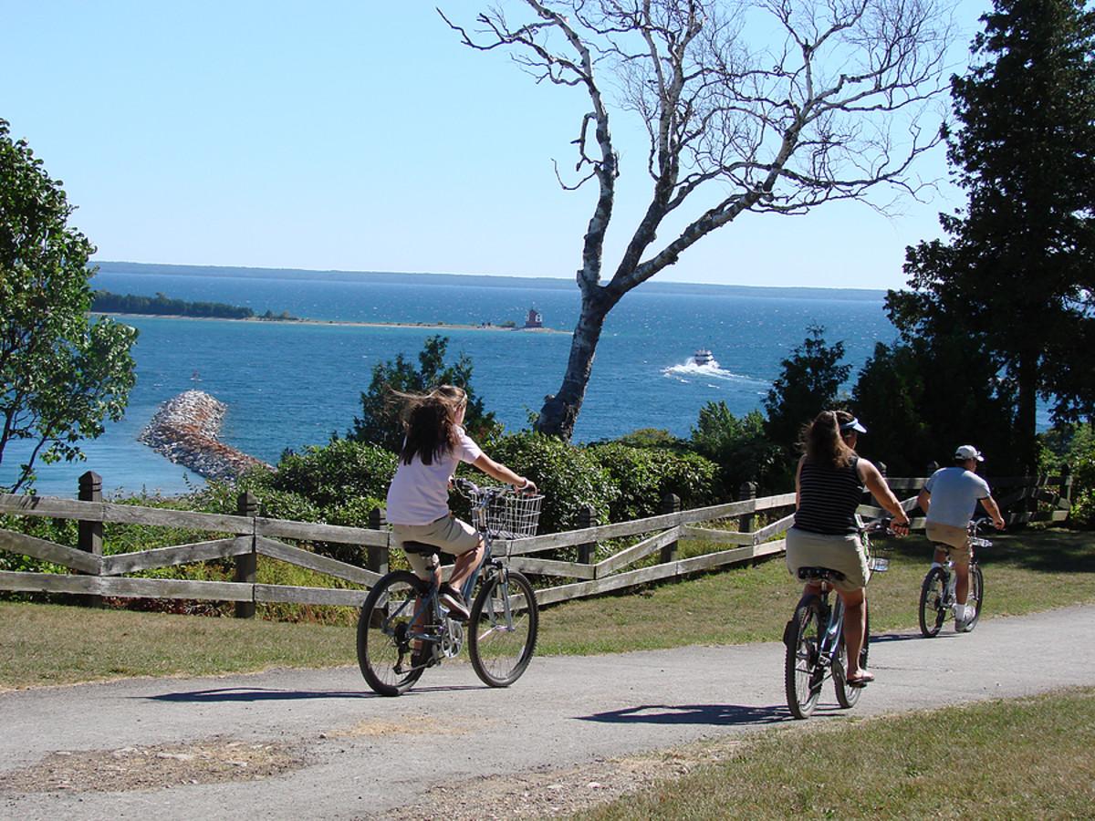 We all enjoy time together bike riding