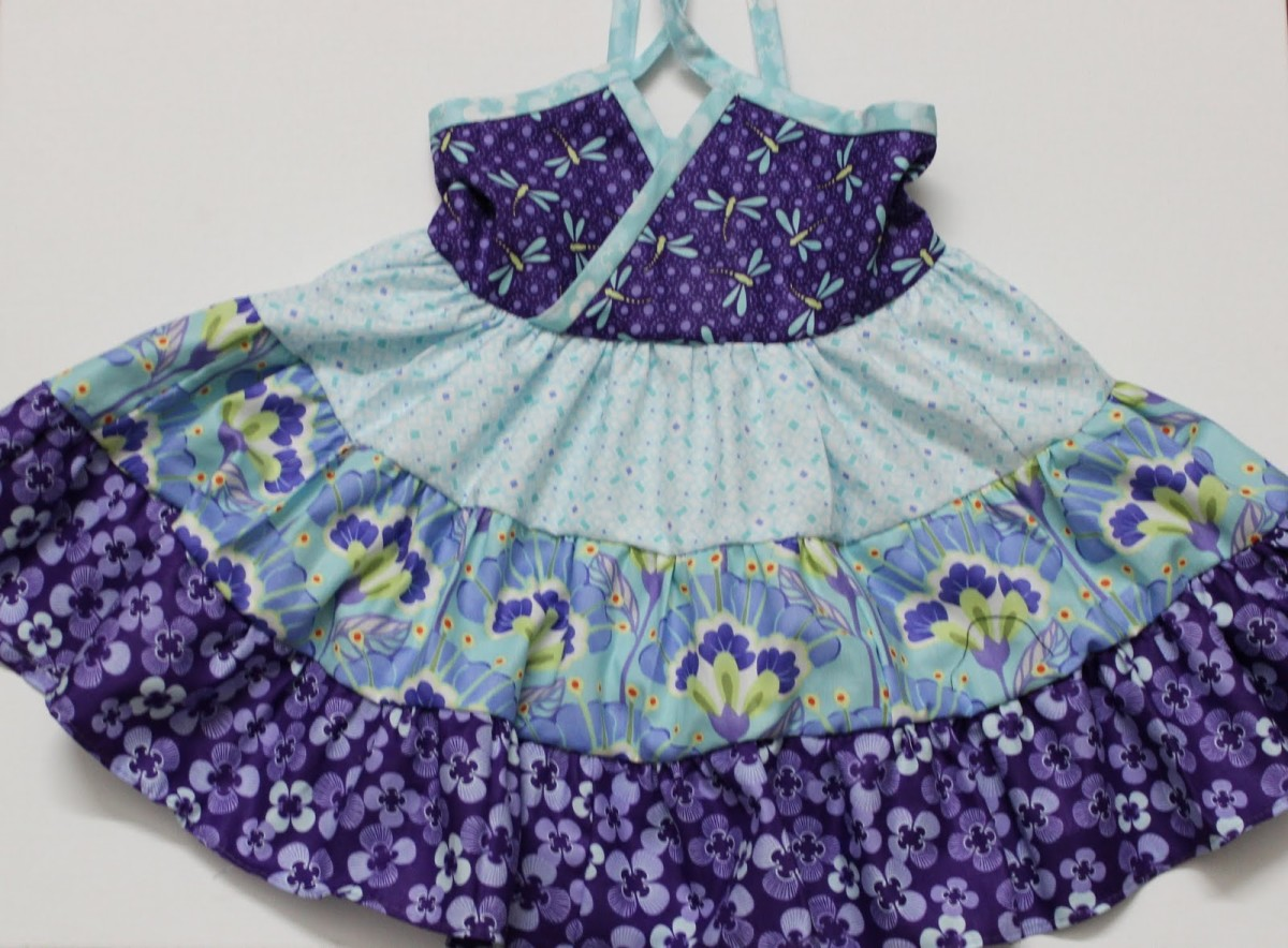 Lucky Layers Tiered Dress in Size 2T From Moda Bake Shop