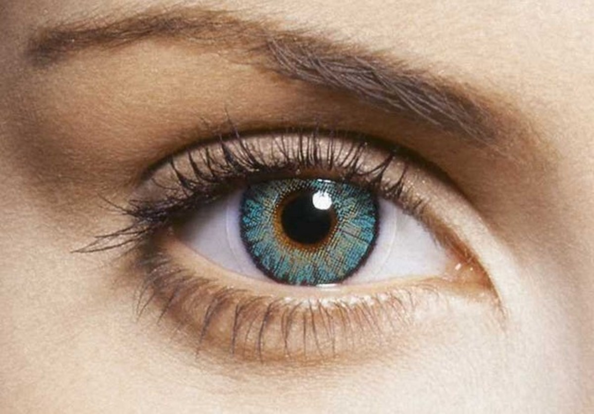 Turquoise contact lens