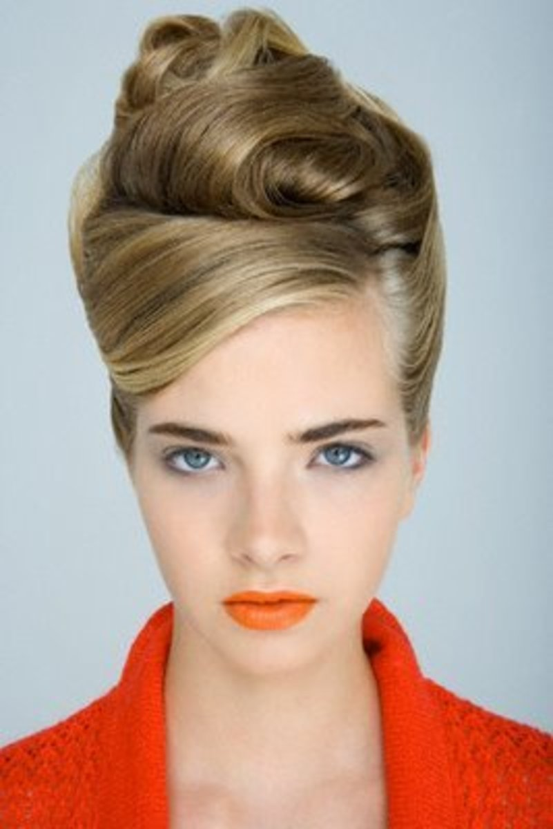 1950s-1960s inspired beehive updo
