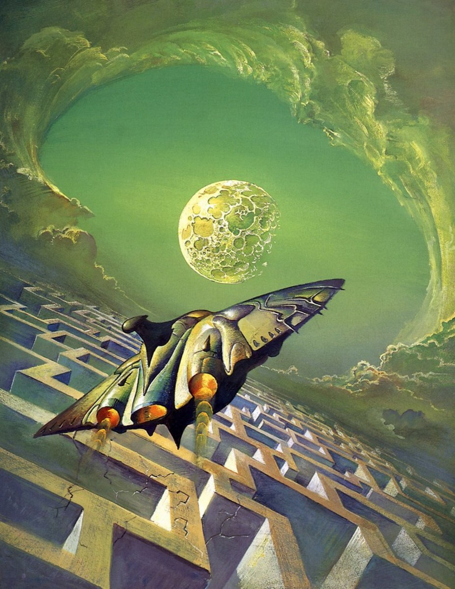 The Man in the Maze - art by Bruce Pennington
