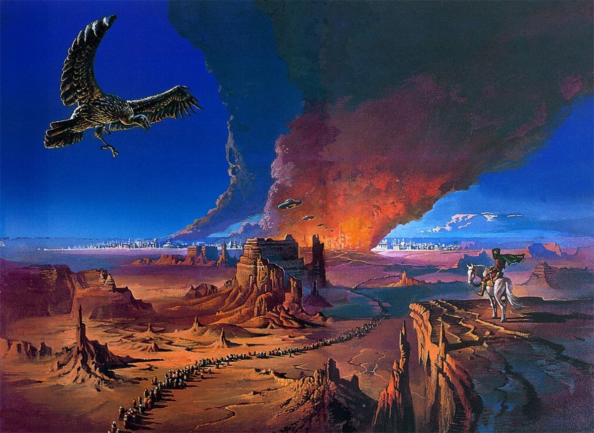 The Pastel City - art by Bruce Pennington