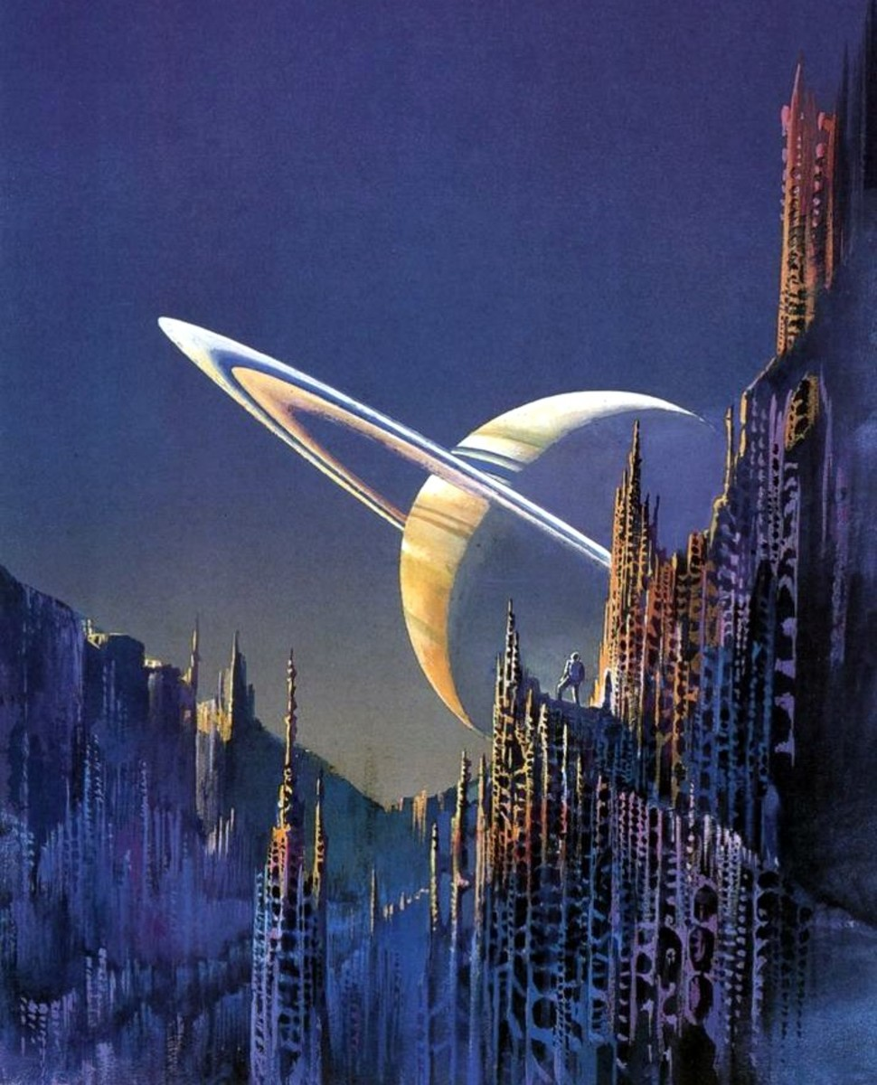 Quest for the Future - art by Bruce Pennington