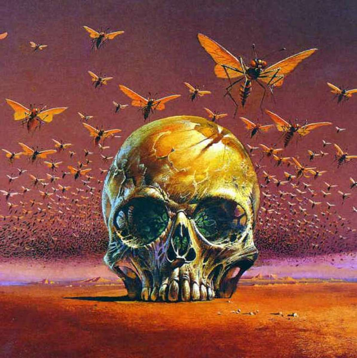 The Green Brain - art by Bruce Pennington