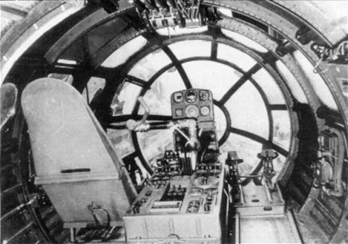 Cockpit of Amerika-Bomber ME264