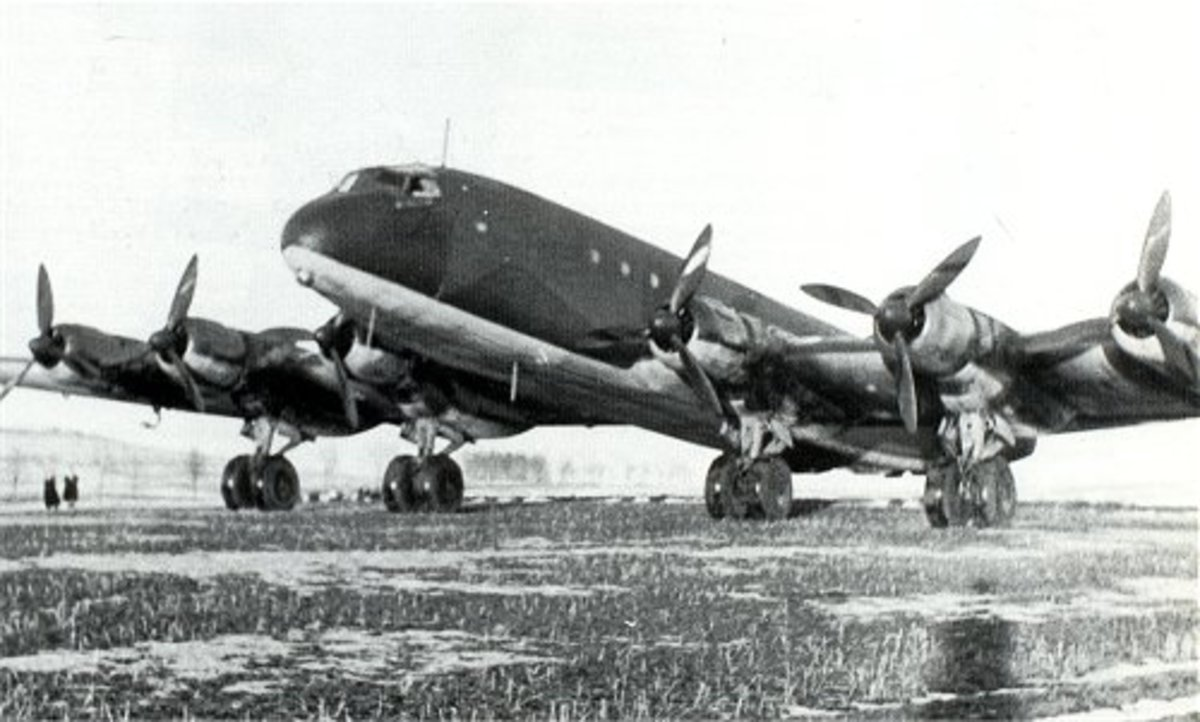Junkers JU-390 (This bomber made a trial flight to New York and back undetected)