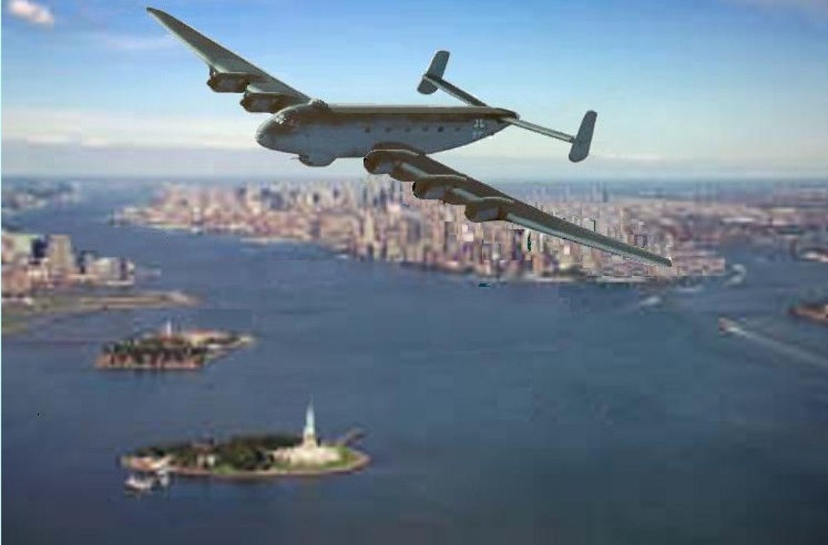 artist impression of JU390 over New York