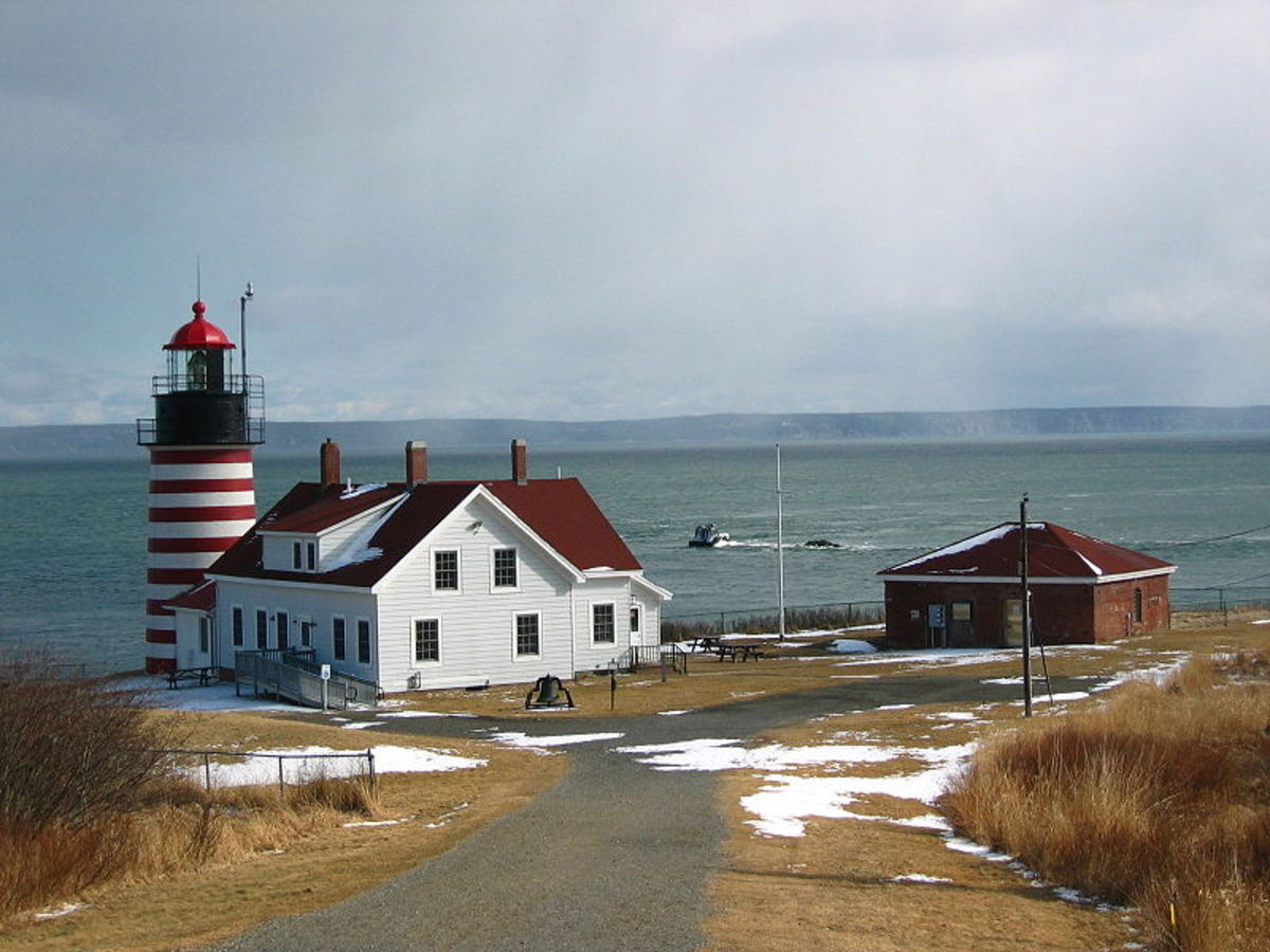 West Quoddy Head Light, Lubec, Maine;