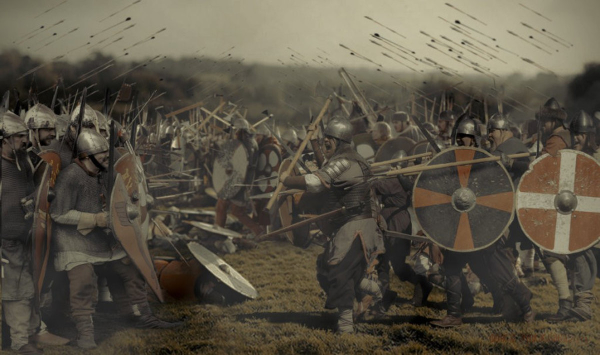 It seemed the fyrds of Mercia and Northumbria were outclassed by a surprisingly agile Norse army led by King Harald and their ousted former earl Tostig...