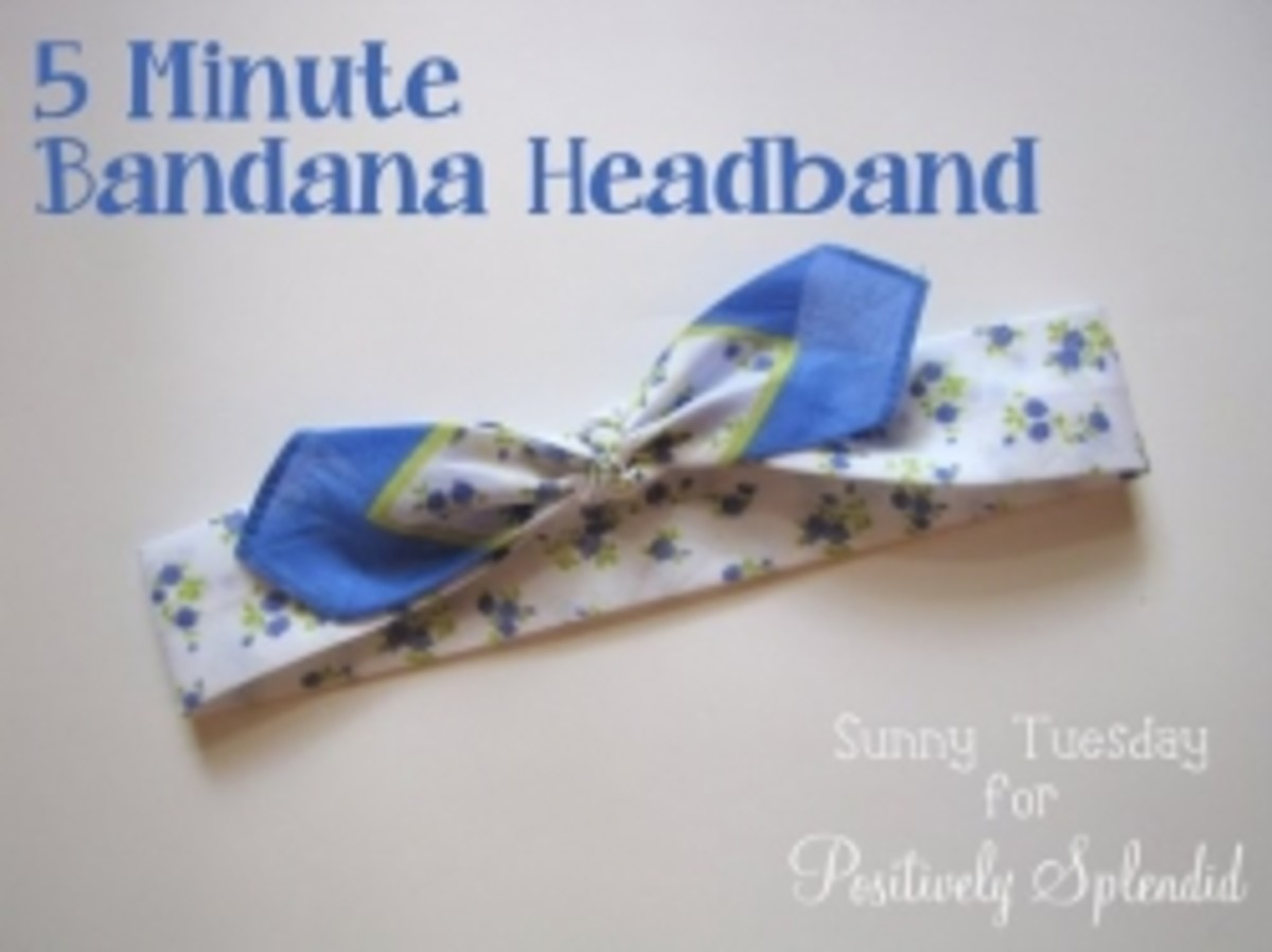5 Minute Bandana Headband via Positively Splendid