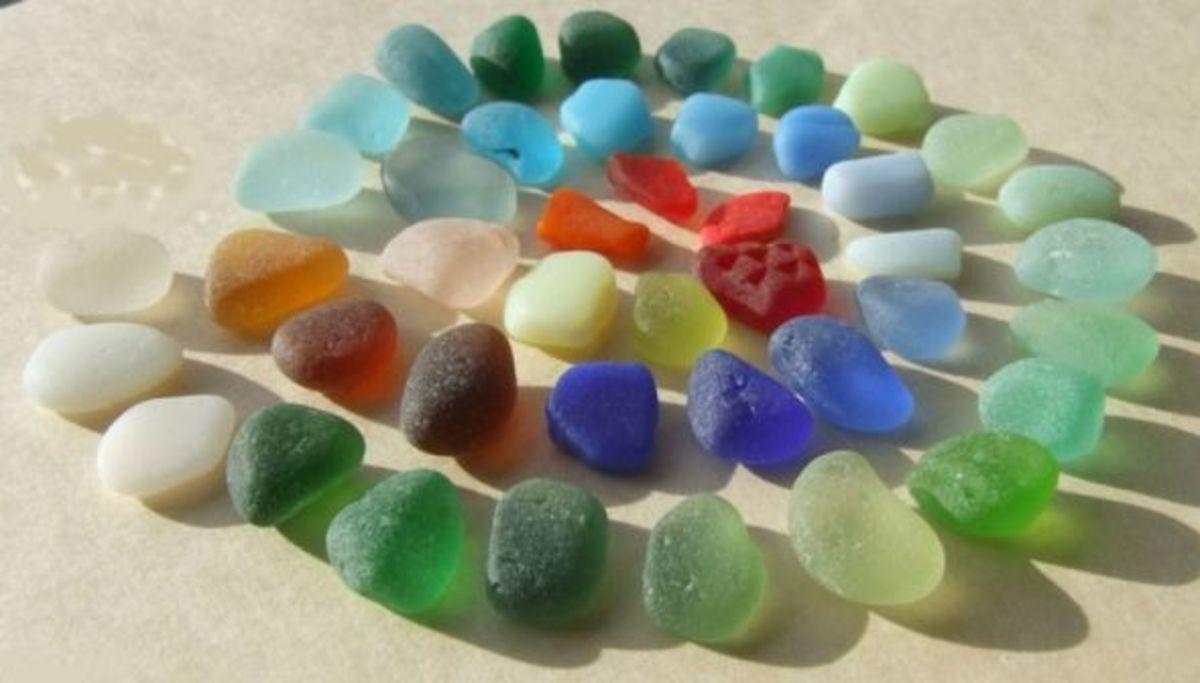 A Sea Glass Rainbow