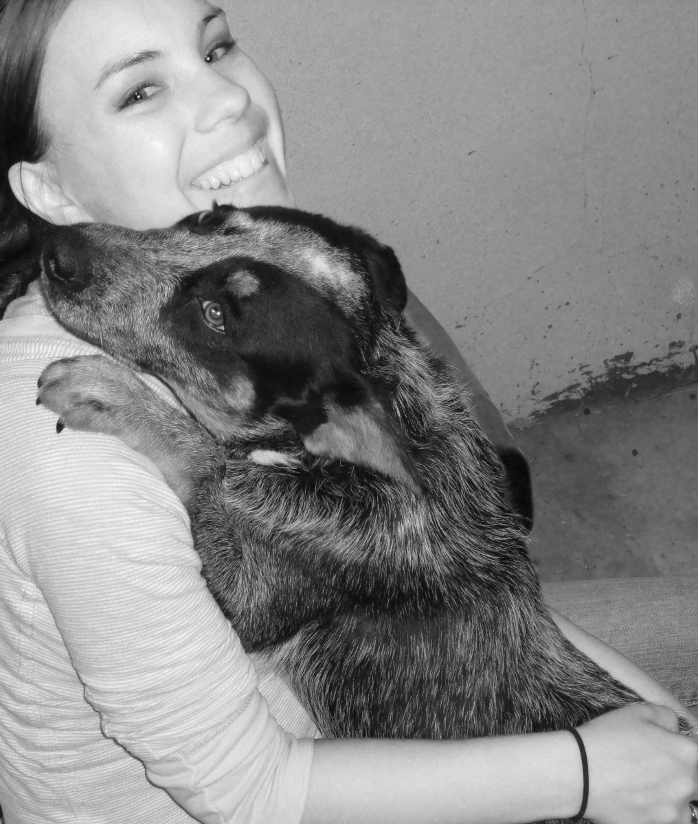 Roxy giving me hugs