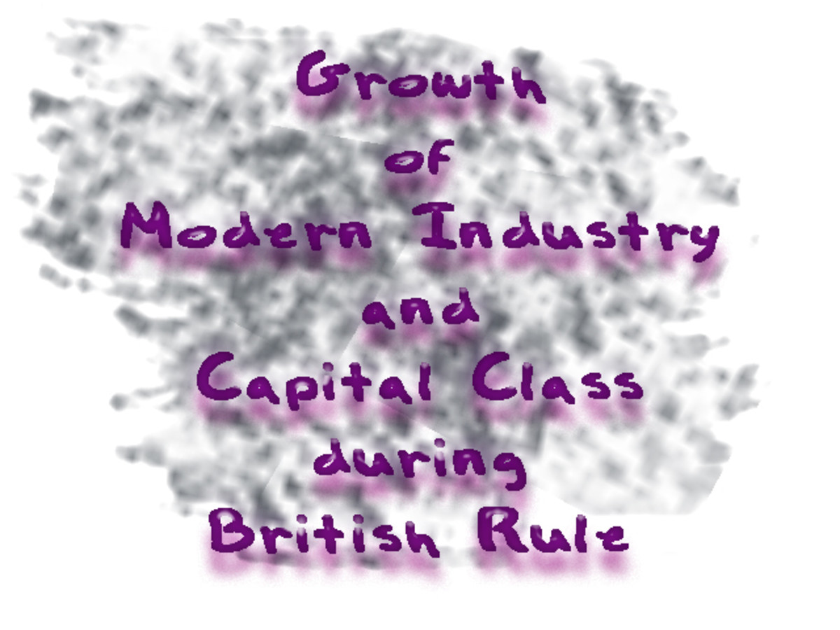 Growth of Modern Industry and Capital Class during British Rule