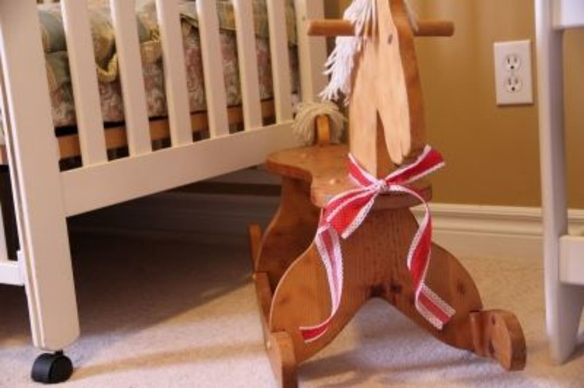 An almost vintage rocking horse - handed down from a friend, who's brother made it 20 years ago!