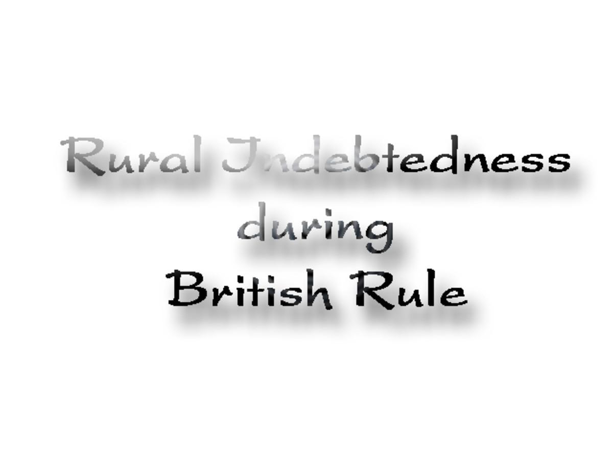 Rural Indebtedness during British Rule