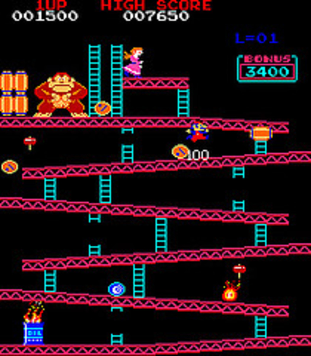 Donkey Kong Level 1